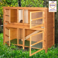 5ft Chartwell Double Luxury Rabbit Hutch in Aiskew