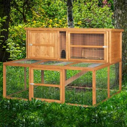 5ft Kendal Luxury Rabbit Hutch and Run Combo