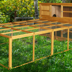 6ft Chartwell Double Rabbit Hutch & XL Run Combo